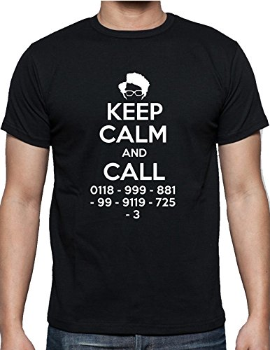 IT CROWD - KEEP CALM AND CALL 0118 999 881 999 119 725 3 WITH MOSS (Small, Black)