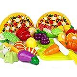 Free fisher 1 Set Frutta Verdura Cucina Giocattolo Taglio Gioco Per Bambini, 24 pezzi