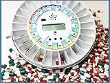 Mediring® Automatik Tablettenbox mit Erinnerungs-Alarm – Pillendose Careousel Advance erinnert zur richtigen Zeit und unterstützt so die Therapietreue
