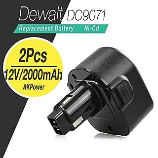 AKPower® 12 Volt 2.0Ah Dewalt Power Tool Drill Battery Replacement For Dewalt 152250-27, 397745-01, DC9071, DE9037, DE9074, DE9075, DE9501, DW9071, DW9072