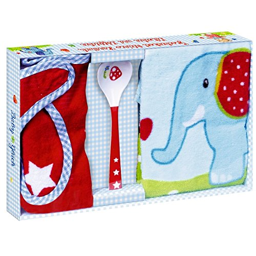 Baby Charms Handtuch, Lätzchen und Löffel Geschenk-Set, Modell # 12867Deko -