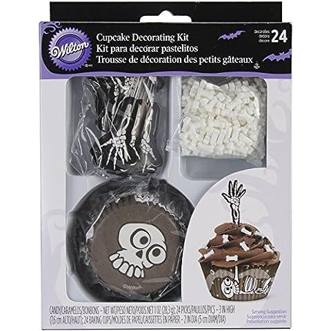 Wilton 48-Piece Skeleton Cupcake Decorating Kit