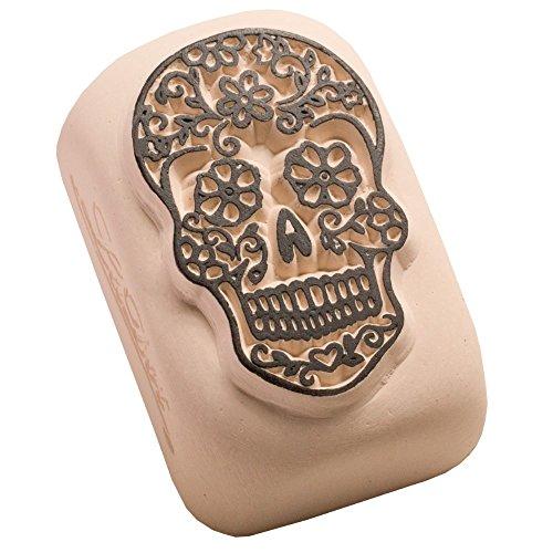 Ladot tatuaggio temporaneo, stampaggio pietra, a forma di teschio