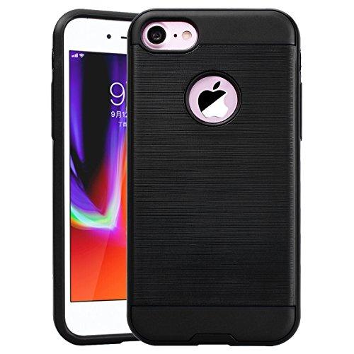 Coque iPhone 6S / iPhone 6, HB-Int Housse de Protection Plastique Hard Back Case + Souple TPU Bumper Etui Ultra Thin Antichoc Cas Couverture pour Apple iPhone 6 / 6S - Rouge Noir