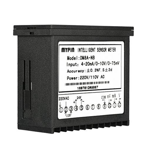 Censhaorme MyPin Digital Sensor Meter Multifunktions intelligente LED-Anzeige 0-75mV / 4-20mA / 0-10V Eingang Drucktransmitter -