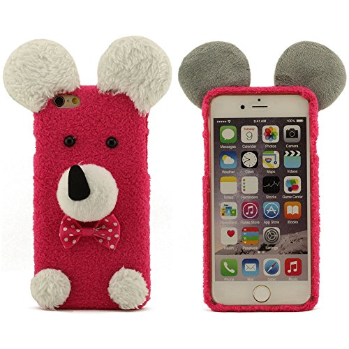 Warm Baumwollmaterial Schutzhülle für iPhone 6 iPhone 6S, Größe 4.7 Zoll Farbe Rot, Puppy Form schützende Hülle, Puppy Doll, Puppy Plüsch Rot