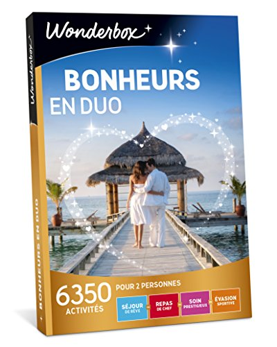 Wonderbox - Coffret cadeau Couple - BONHEUR EN DUO - 6350 Séjours de rêve, repas de...