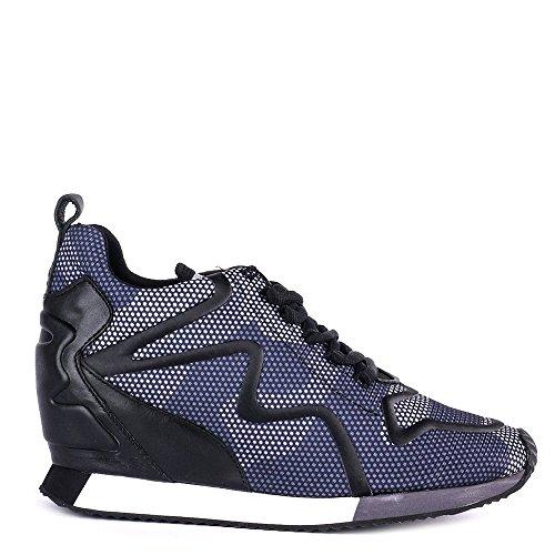 Ash Chaussures Domino Noir et Gris Baskets Femme Gris/Noir