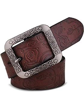 Señoras Grabación En Relieve Cinturón,Pin Hebillas Elegante Simple Cinturón Ocio Salvaje Distribución Jeans Cinturón