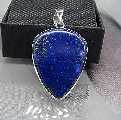Pendentif Bohème Chic. Lapis Lazuli Argent