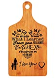 Mother's Gift - Langxun Personalized Engraved Bamboo Cutting Board for Mother's Day Gift, Birthday Gift for Mom and Grandma