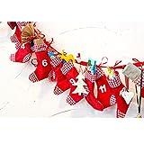SSITG Grafner Adventskalender Stiefel selbst befüllen Advents-Kalender Advent Kalender(Lieferzeit ist 3-7 Tagen)