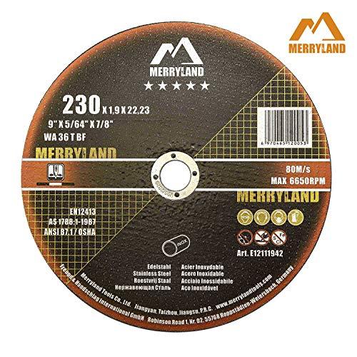 Merryland 230 X 1,9 Experten-line Trennscheibe für Edelstahl Metall 25 Stück
