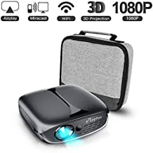 ELEPHAS Mini Portable Projector WiFi DLP HD Pico 3D Video Pocket Projector Supports 1080P HDMI USB Built-in YouTube Koala Apps Rechargeable Battery