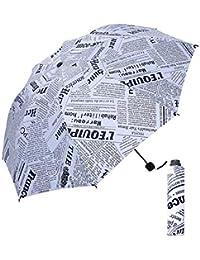 DORRISO Durable Plegable Paraguas Hombres Mujer Ligero Viajar Ocio y Resistente al Viento Impermeable Anti-
