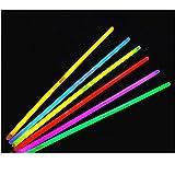 Gespout 100 Pezzi Bagliori Non infiammabile Non radioattivo Bastoncino al Neon Multicolore con connettori per Braccialetti Luminosi per collane alle Feste da Ballo delle Discoteche di Lunga Durata