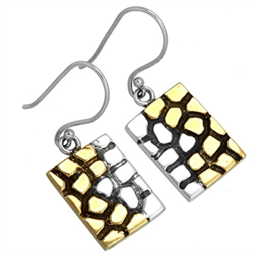 Solid 925 Sterling Silver Best Seller Jewelry Plain Brass Dangle Earring  available at amazon for Rs.1196