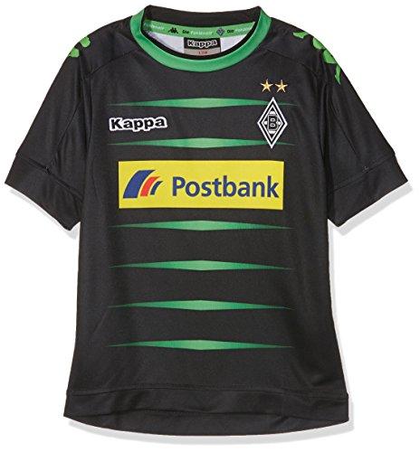 Kappa Kinder 3rd 2016/2017 Borussia Mönchengladbach Trikot, Schwarz, 164