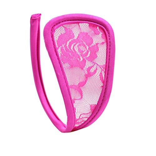 OOCOME 2pcs schwarz und rosa sexy Frauen C-String Unterw?sche Thong Unterw?sche Dessous