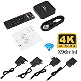 Cewaal (EU Plug)Ultra Fast Smart Box de TV, X96 Mini Android 7.1 Amlogic S905W 2GB + 16GB de cuatro núcleos WiFi HD 4Kx2K Smart TV Box Reproductor de medios