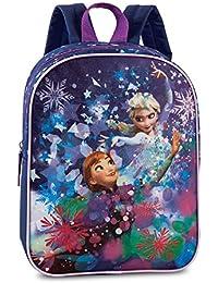 Preisvergleich für Disney Frozen - Die Eiskönigin Elsa Anna (20521) mit Glitzerdruck, Rucksack Kinderrucksack, 29 x 23 x 10 cm, blau...