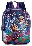 Disney Frozen - Die Eiskönigin Elsa Anna (20521) mit Glitzerdruck, Rucksack Kinderrucksack, 29 x 23 x 10 cm, blau/lila