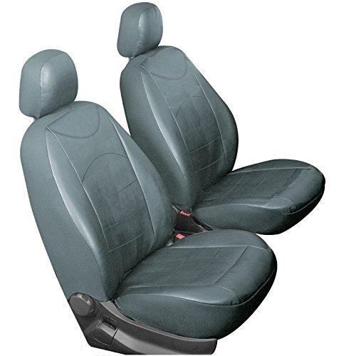 WOLTU AS7235gr-2 Einzelbezug vordere Sitzbezug für Autositz ohne Seitenairbag, 2er