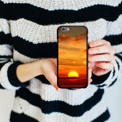 Apple iPhone 5s Housse Étui Protection Coque Coucher de soleil Ciel Nuages CasDur noir