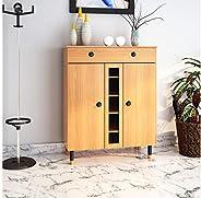 @home by Nilkamal Morvin Shoe Cabinet with Drawer (Teak)