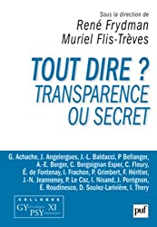 Tout dire ? Transparence ou secret - Colloque Gypsy XI