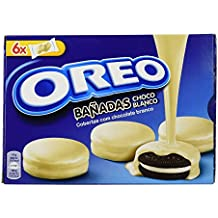Oreo Bañadas - Galletas Cubierto de Chocolate Blanco - 6 bolsas de 2 galletas - [pack de 5]