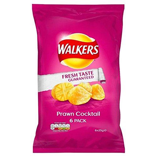 Walkers Chips Garnelen Cocktail 25g x 6pro Packung (2Stück) (Britische Kartoffel-chips)