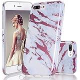 GopeE IPhone 7 Plus Case,iPhone 8 Plus Case, Marble Design Clear Bumper TPU Soft Case Rubber Silicone Skin Cover For IPhone 7 Plus (2016)/iPhone 8 Plus (2017) - B07H1H5P4B