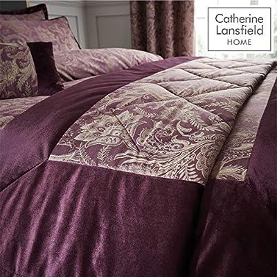 Catherine Lansfield Regal Jacquard Bedspread Plum, 240x260cm
