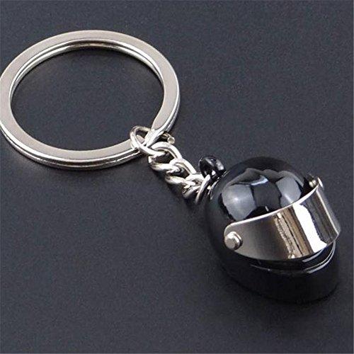Sunfish Paar Metall Keyring Kühle Motorrad Helm Schlüsselanhänger 1pc (Schwarzer - Fußball Helme Motorrad