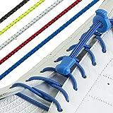 Nunca Tie cordones-Juego de 3o 5pares de no Tie cordones-10colores elástica Lock-Cordones para zapatos-ideal para caminantes, traithlon corredores y otros deportes. Para Zapatos, botas y zapatillas/Zapatillas Pack of 5 Reflective