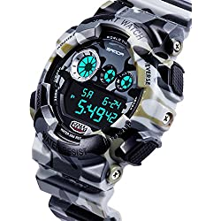 Men's waterproof and shockproof watches/Multifunction Watches/ leisure sports electronic watch-C