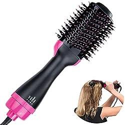 ANKIKI 2 en 1 Sèche-Cheveux en Une étape Coiffeur et Volumizer Salon Fer à Lisser ION négatif Peigner Les Cheveux bouclés Pince à friser pour Tous Types de Cheveux