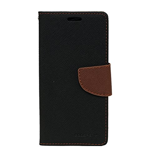 SDO™ Textured Mercury Goospery Flip Cover Case [with Card/Cash Holder] for Vivo V3 (Brown)