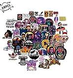 Vercico 68pcs Things Strangers Stickers for Voiture Ordinateur Portable PVC Vélo Sac À Dos Maison Decal DIY Étanche PVC Jouet Autocollants