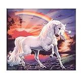 display08Rainbow Unicorn diamante pintura arte habitación de manualidades de punto de cruz bordado decoración de pared