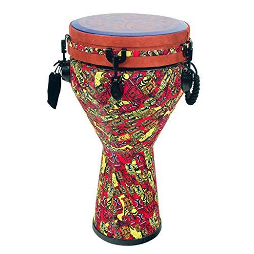 Djemben Afrikanische Trommeln Afrikanische hölzerne Handtrommel in der Größe von Standard 10 Zoll Super Sound Ideal Fair Trade Populäres Geschenk Handtrommeln (Hölzerne Trommel)