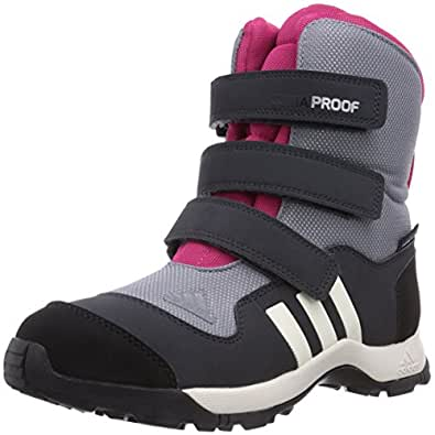 adidas Performance  ADISNOW II PL CF CP K Trekking & Hiking Shoes Unisex-Child  Gray Grau (TECH GREY F12 / BLACK 1 / BLAST PINK F13) Size: 36
