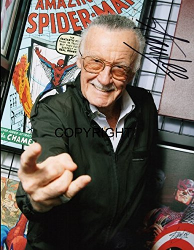 Stan Lee, signiertes Foto mit zertifiziertem, gedrucktem Autogramm, limitierte Auflage. (Foto-und Autogramm-buch)