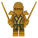 Neu LEGO Ninjago Golden Ninja Figur Lloyd Gold NEW with Weapons 71239 70505 70503