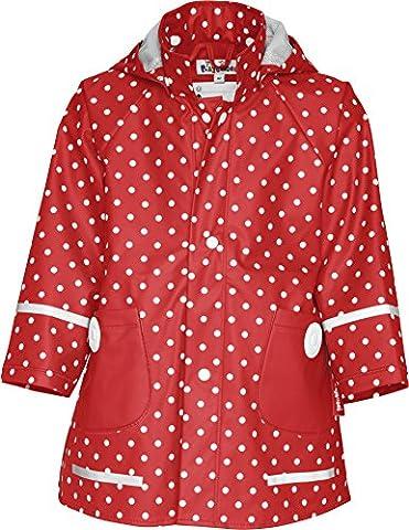 Playshoes Regen-Mantel Punkte 408566 Mädchen Regenmntel, Gr. 80 Rot (rot 8)