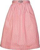 Damen Dirndlschürze mit Schnalle 68er Länge und 65er Länge NEU (S, rosa 65er Länge)