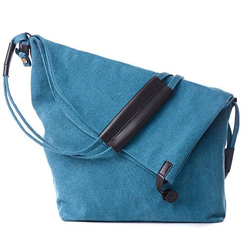 BYD - Damen Schule Bag Tote Bag Travel Bag Bucket Bag Canvas Bag Handtaschen Schultertaschen Shopper handtaschen with Multi Strap and Fashion Design Blau