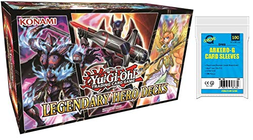 Yu-Gi-Oh! Legendary Hero Decks DEUTSCH (150 Karten) + GRATIS Arkero-G 100 Small Soft Sleeves / Kartenhüllen - Yu-gi-oh Hero Deck