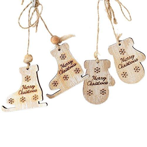 ChristmasTree Handschuhe Rollschuhe Ornaments Decorative Hanging Tree Party Weihnachten Garten Dekorationen Weihnachtsschmuck Set, Xmas Decorations Baubles Party Wedding Ornament 6cm,2 Pair
